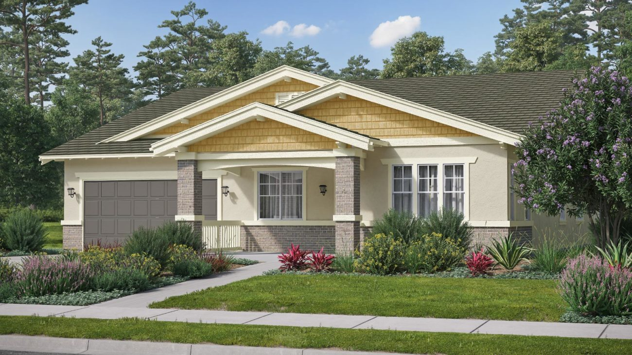 Preliminary exterior rendering Residence 1C The Orchards at Heritage Grove Fillmore