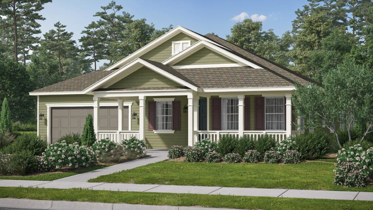 Preliminary exterior rendering Residence 1E The Orchards at Heritage Grove Fillmore