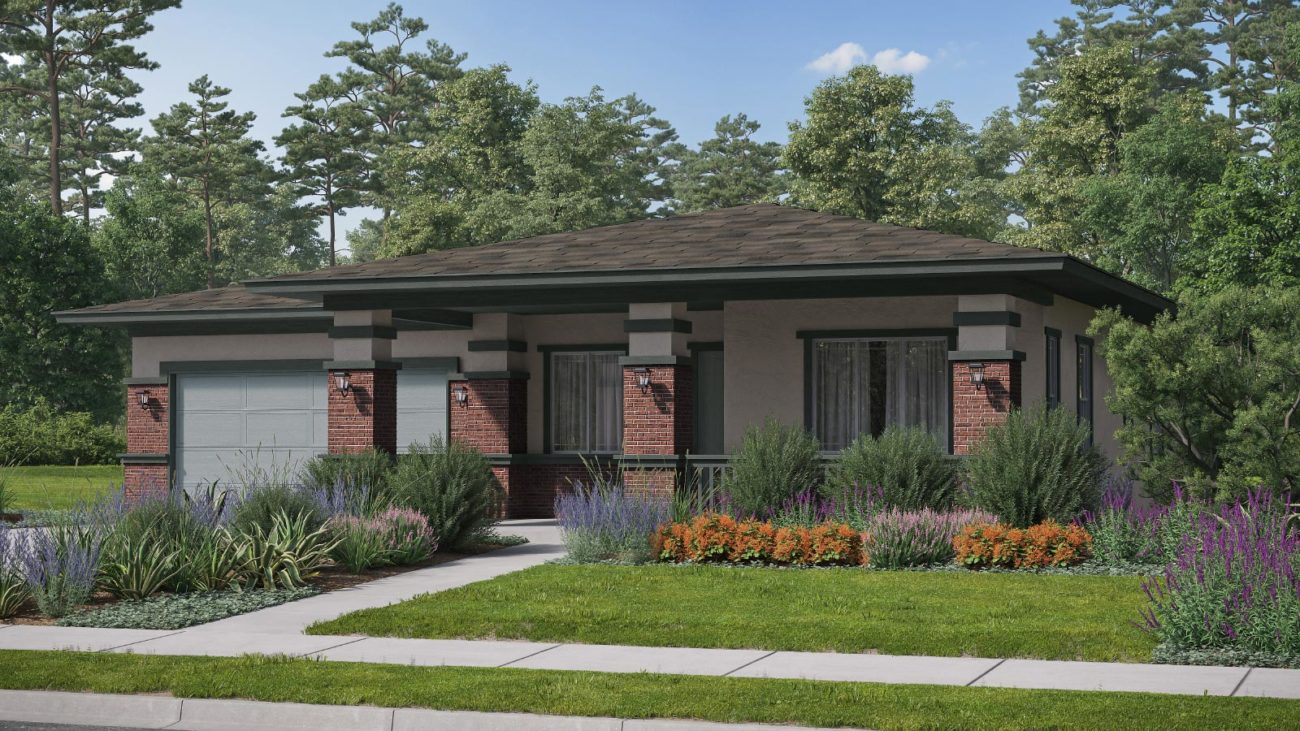 Preliminary exterior rendering Residence 1G The Orchards at Heritage Grove Fillmore