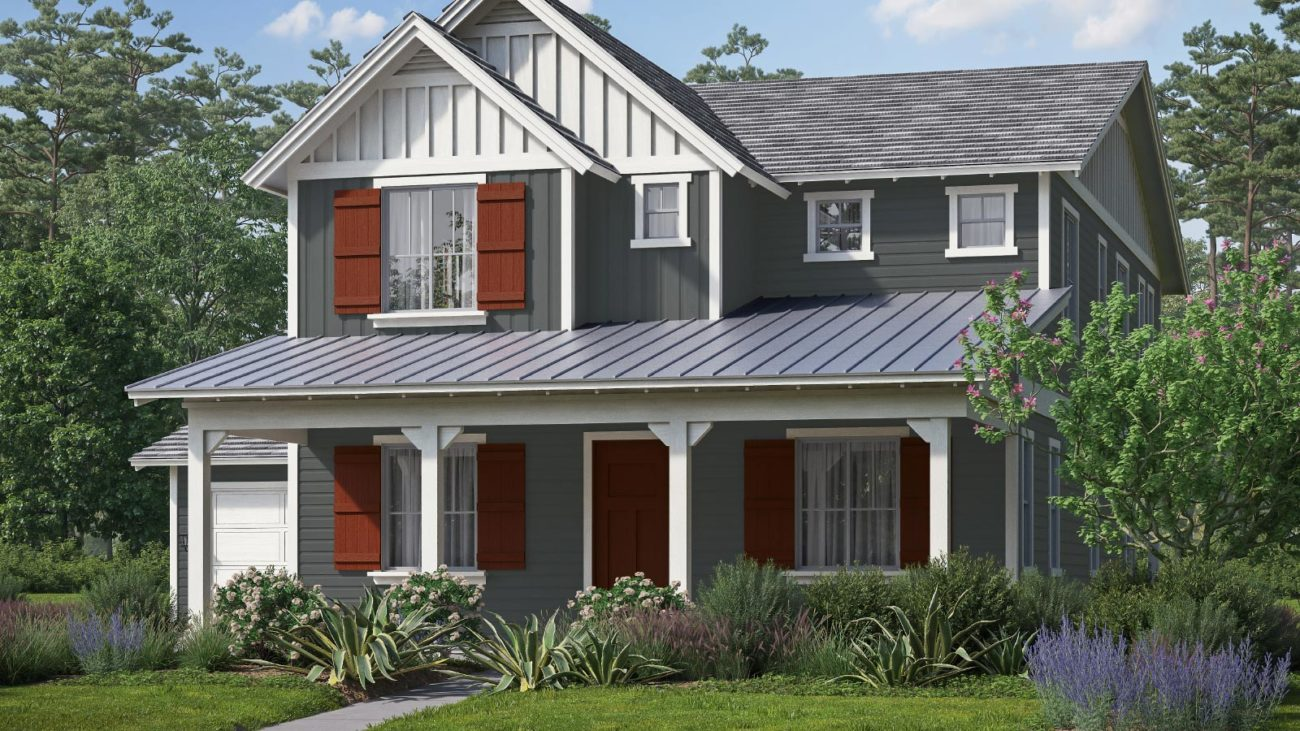 Preliminary exterior rendering Residence 2D The Orchards at Heritage Grove Fillmore