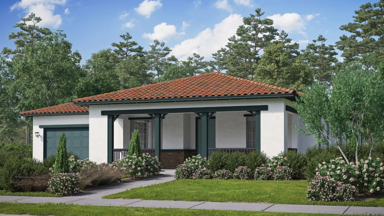 Preliminary exterior rendering Residence 3B The Orchards at Heritage Grove Fillmore