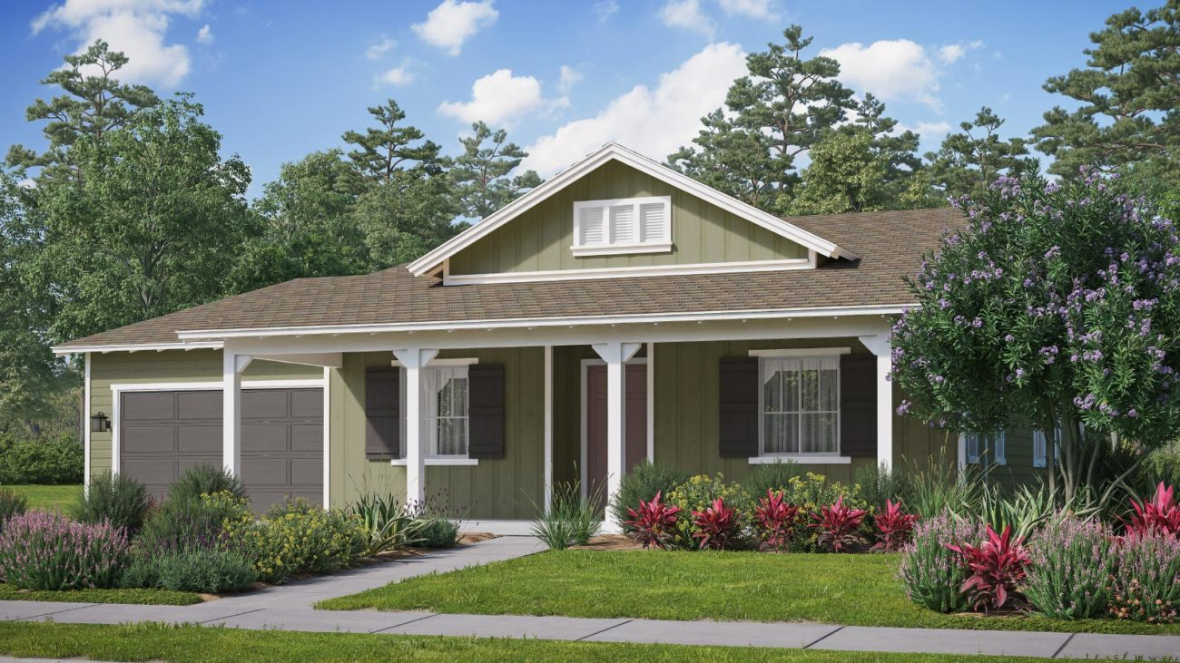 Preliminary exterior rendering Residence 3D The Orchards at Heritage Grove Fillmore