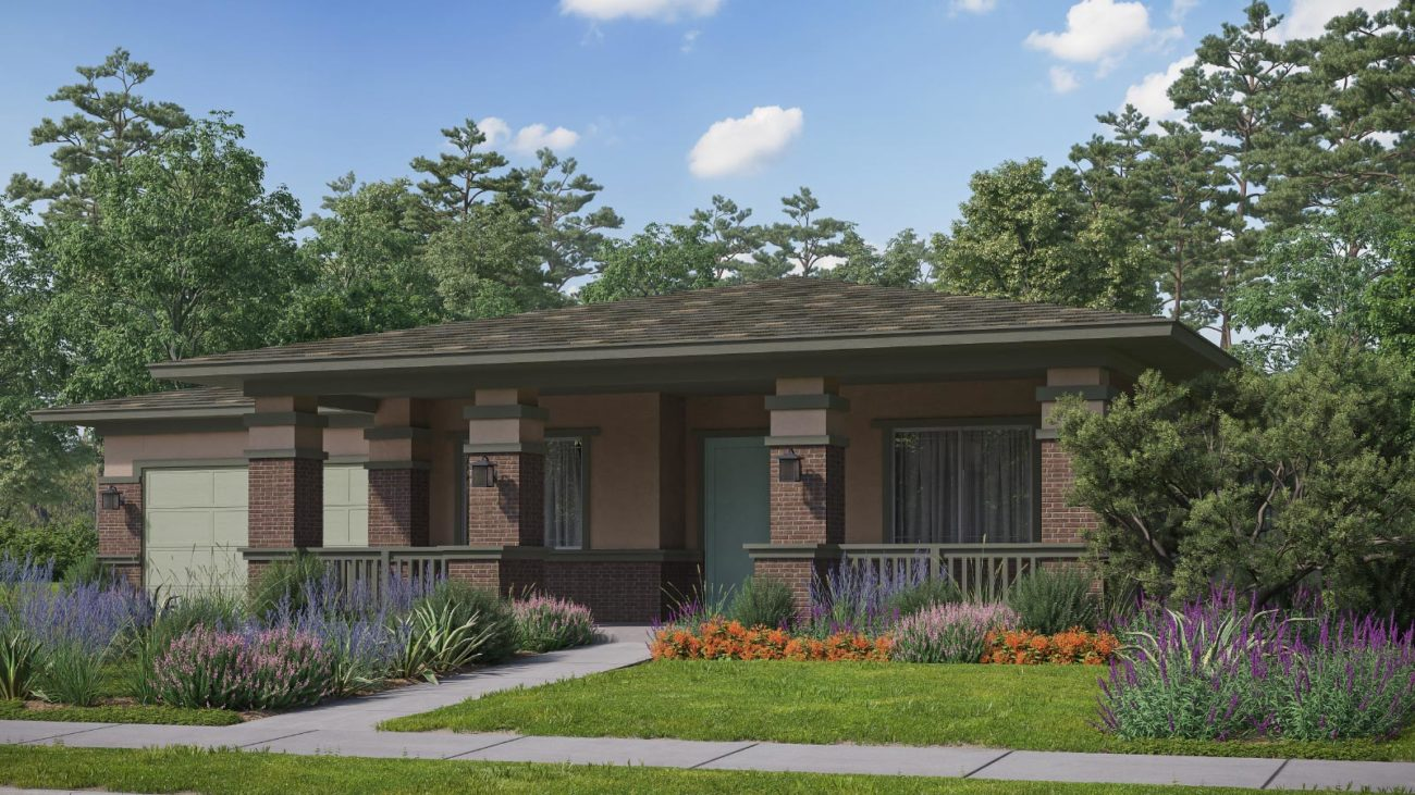 Preliminary exterior rendering Residence 3G The Orchards at Heritage Grove Fillmore