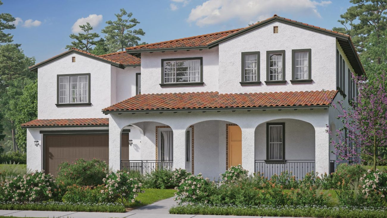 Preliminary exterior rendering Residence 4A The Orchards at Heritage Grove Fillmore