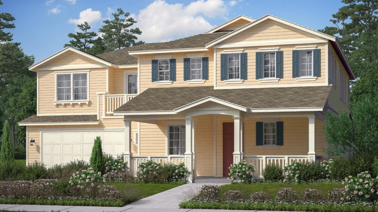 Preliminary exterior rendering Residence 4E The Orchards at Heritage Grove Fillmore