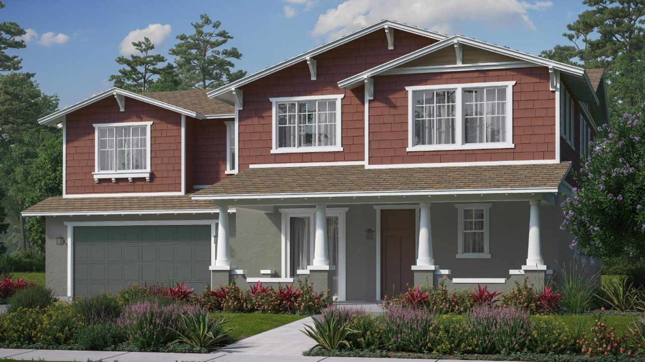 Preliminary exterior rendering Residence 4F The Orchards at Heritage Grove Fillmore