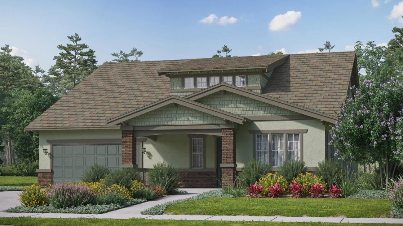 Preliminary exterior rendering Residence 5C The Orchards at Heritage Grove Fillmore