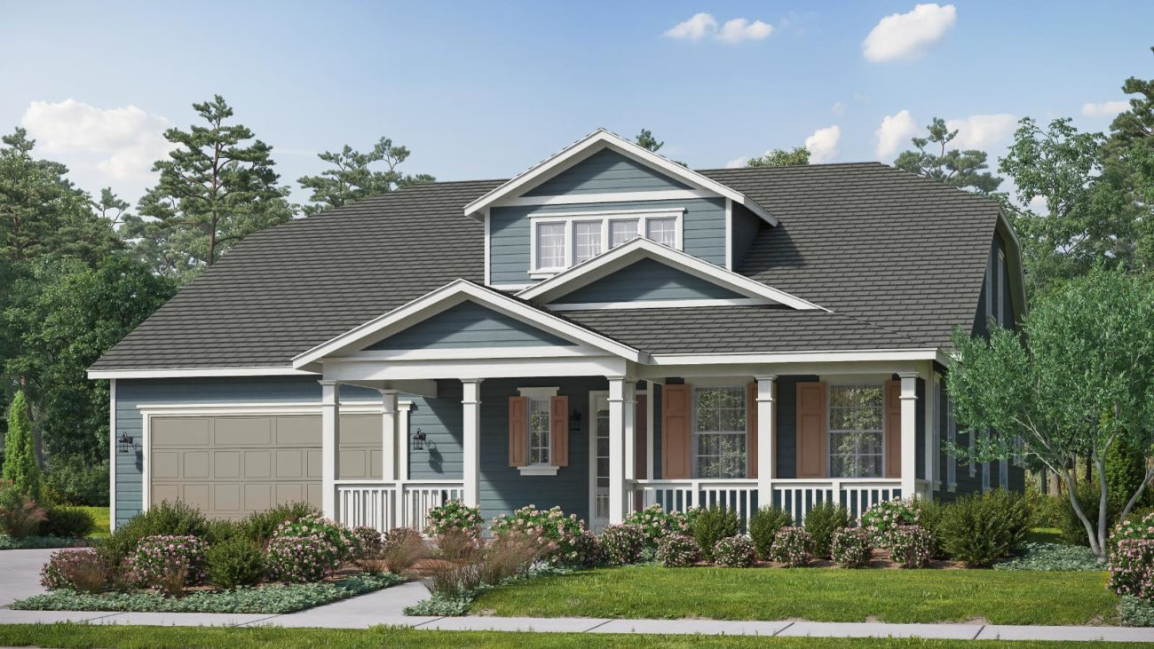 Preliminary exterior rendering Residence 5E The Orchards at Heritage Grove Fillmore