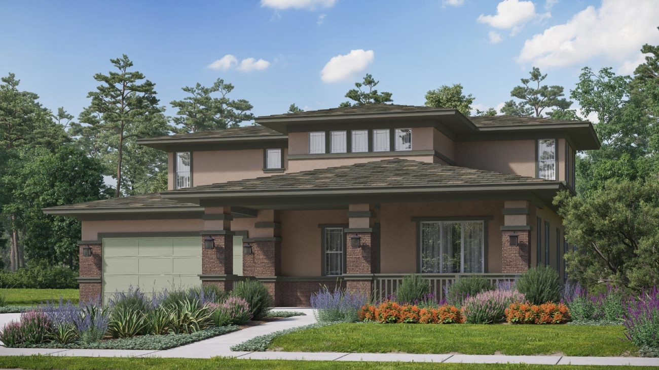 Preliminary exterior rendering Residence 5G The Orchards at Heritage Grove Fillmore